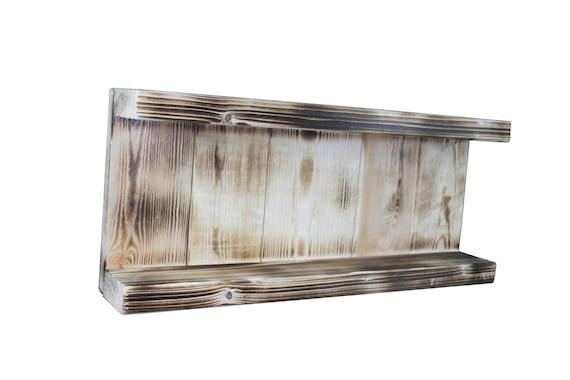 Gewürzregal Gewürz Halter Küchen Regal Gewürz Board aus Holz braun geflammt  Bauernhaus Landhaus shabby vintage fertig montiert