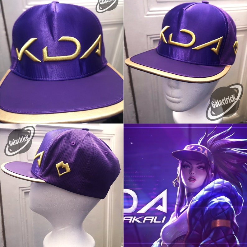 e31a4594de983 Akali Cosplay LOL KDA K DA Hat Cap Trucker Hip-Hop Baseball