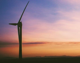Wind Turbine, Cornwall / Photographic Print