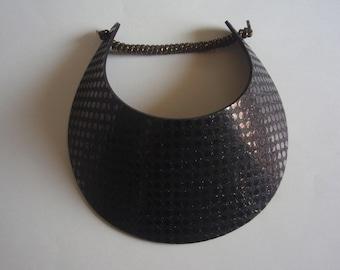 01242ad636b97 Curly Lace Foam BIG BRIM Large Dot Black Glitter Sun Visor Laminated with  Fashion Fabrics       2 Visor Minimum for FREE Shipping