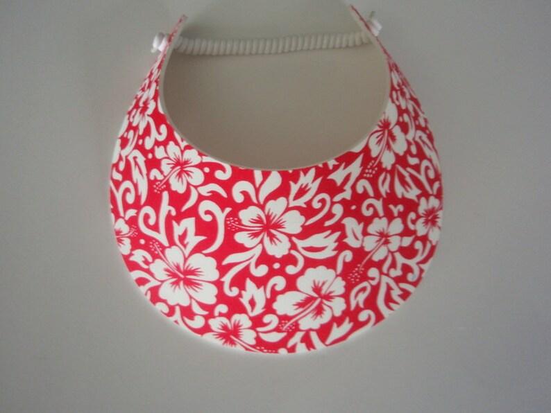 Curly Lace Foam BIG BRIM  Hawaiian Sun Visor Laminated with Fashion Fabrics ***** 2 Visor Minimum for FREE Shipping*****