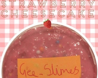 Stawberry cheesecake - halv floam, half butter slime