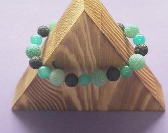 Homemade Reiki Infused Jade & Lava Bracelet