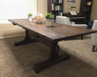 raw wood dining table glass farmhouse dining table raw wood wood table etsy