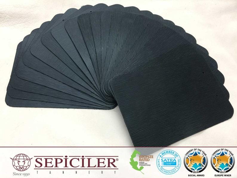 Black Color 10.5x7.5 Pre-Cut Pieces Sepici Leather 10 per Pack Epi Printed 45 Oz. 1.6-2.0 mm