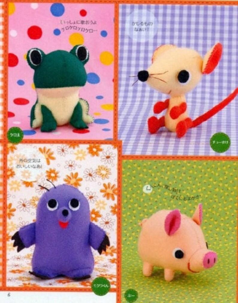SEWING FELT AMIGURUMI Pattern-\u201cFelt Amigurumi-Tabatha Naomi\u201d-Japanese Craft E-Book #244.Instant Download Pdf file.