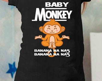 Cute Baby Monkey Banana Na Nas For Kids