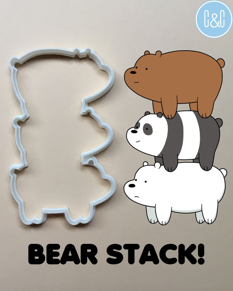 4e178c6fe3b9 We Bare Bears Cookie Cutter polymer clay fondant cheese
