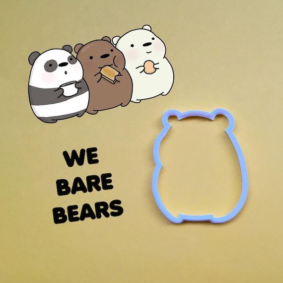 WE BARE BEARS KEYRING Handbag Charm Gift ICE BEAR GRIZZLY PANDA STACK