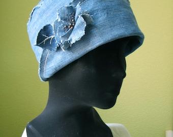 Blue jeans sun hat