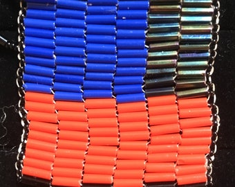 Code Necklace (Red/Blue)