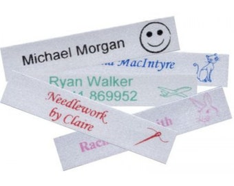 50x Satin Iron-on Labels