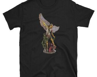 9eb66612 St Michael Archangel Guardian Angel T-Shirt