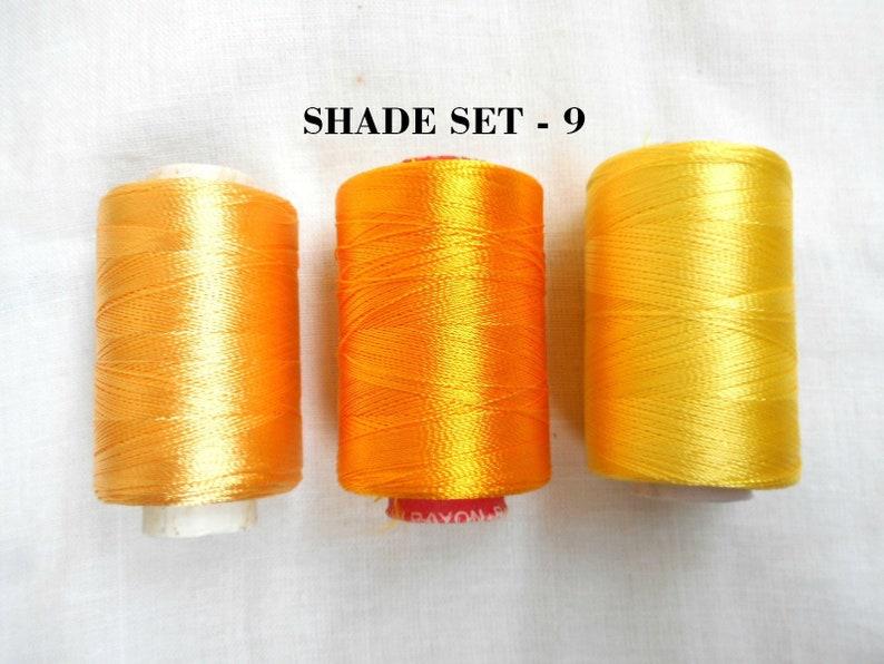 3 Spools of silk thread #Chooseyourcolor #IndianArtsilk #EmbroideryThreads for machine use and silk tassel making #ThreadsDIY #WomensDIY