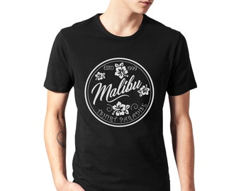 MALIBU Men's T-Shirt Beach Fun Style