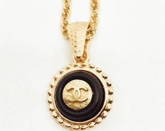 VINTAGE CHANEL Mini Refurbished Button Necklace