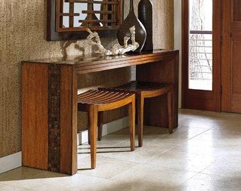 Lexington Furniture Tommy Bahama Island Fusion Turtle Island Console Table