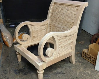 Xs Upholstery Unfinished Accent Chair Frame Etsy