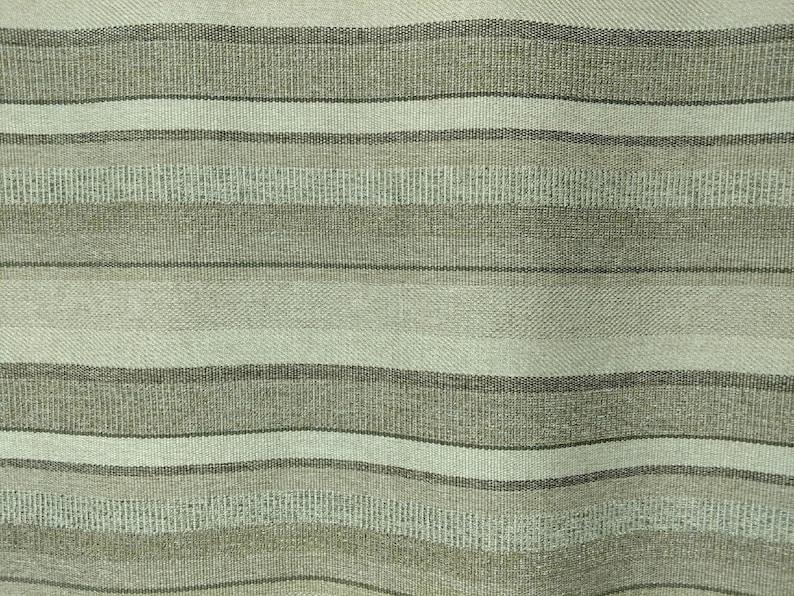 Tan /& Brown Bold Stripe Closeout Upholstery Fabric 7 Yards of Khaki