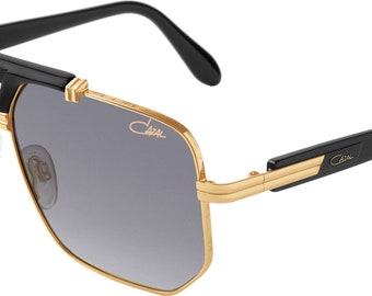 cf06e4f9e6 Cazal Legends 990 001 Gold Black Metal Aviator Sunglasses Grey Gradient Lens