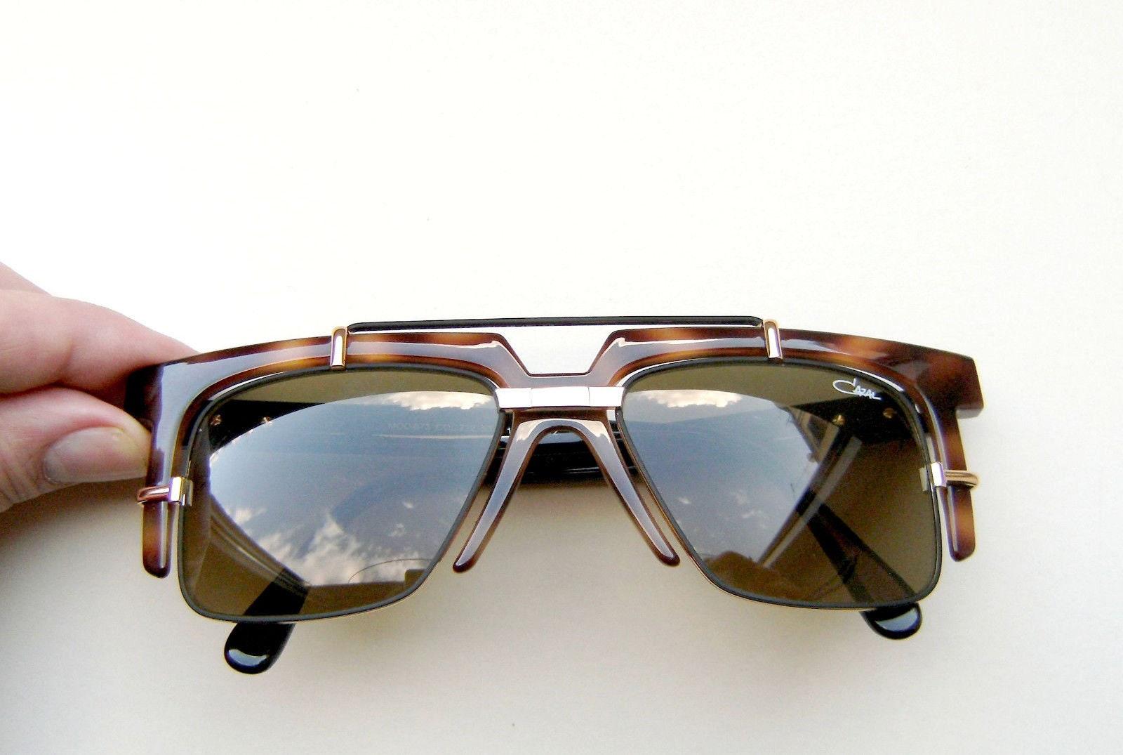1020ed088ed New Men Sunglasses Cazal Mod 873 001 Amber Brown Black Size
