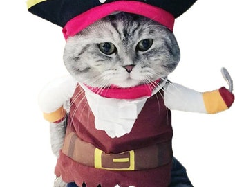 Pet Pirate Costume for Cats and Dogs