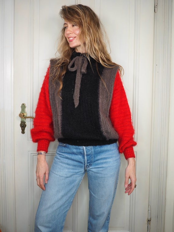 Designer sweater, mohair sweater, elegant sweater,