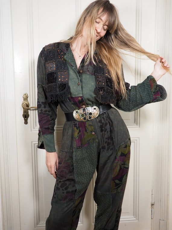 Boho Jumpsuit, Vintage Jumpsuit, Party Jumpsuit, P