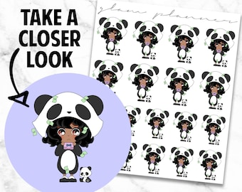 Pay the Bills: Polka and Dot Kawaii Planner Character Stickers