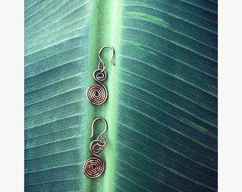 Hang ten copper spirals