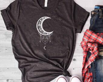 eca987a96ca5 Moon Shirt, Night Sky Shirt, Moon T Shirt, Crescent Moon, Moon Phase Shirt, Moon  Tshirt, Moon Tee, Astronomy Shirt, Moon T-Shirt, Moon Tee