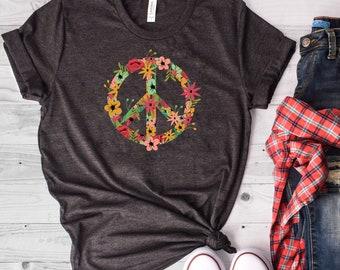 cae9430be930 Peace Sign Shirt, Peace Shirt, Peace Sign T-Shirt, Peace TShirt, Peace  Symbol, Peace T-Shirt, Peace Tee, Peace Symbol Shirt, Hippie T Shirt