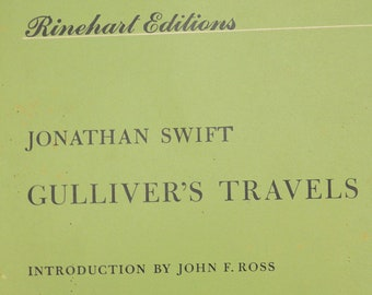 Gullivers Travels // Jonathan Swift // Rinehart Edition // 1960 // paperback // Kid // Teen // Vintage // Book