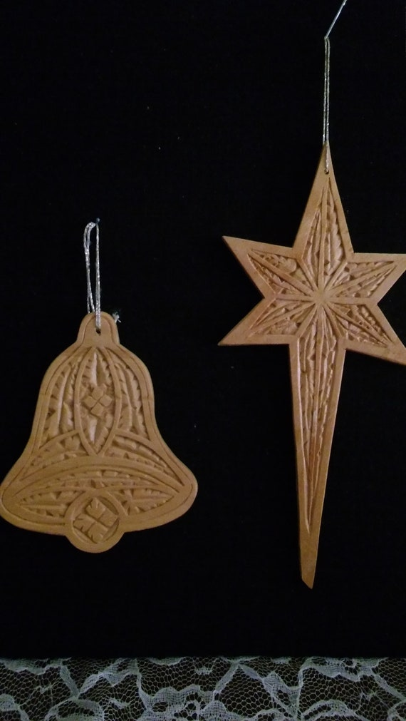 Chip carved bell cross etsy