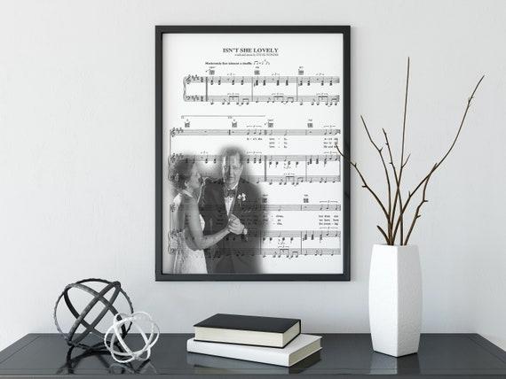 Father Daughter Dance Wedding Present Dad Daddy Song Lyrics Music Sheet  Fathers Day Wall Decor Wall Art Digital Print Christmas