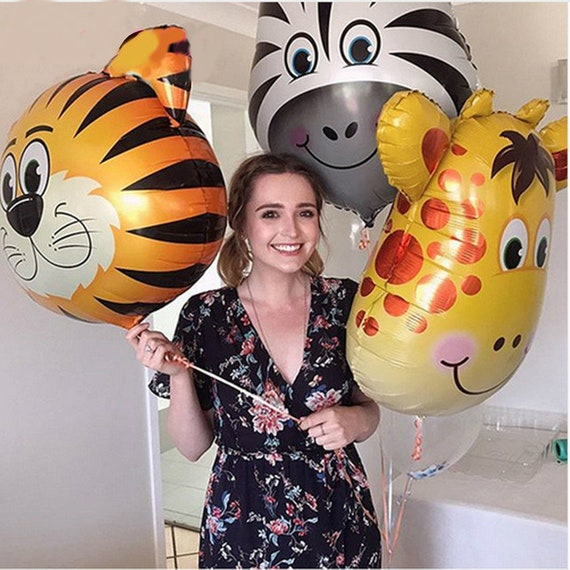 6 PCS Cartoon huge animal head balloon aluminum foil 36 inches interesting cute