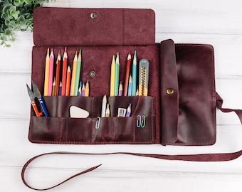 3 Pocket Roll Up Pencil Case