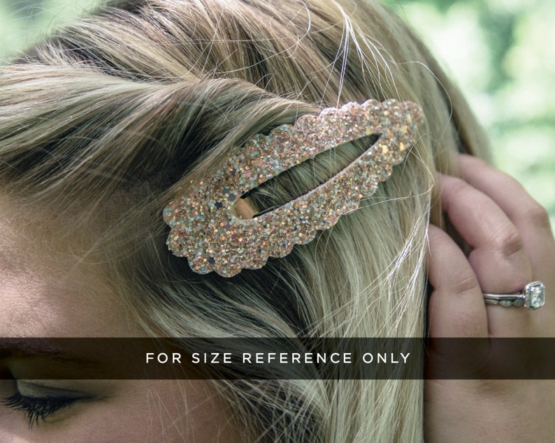 Gold Aged Shimmer Vegan Leather 4in Snap Clip  Glitter Barrettes  Hair Clips  Hair Clip Barrette  Sparkly Hair Clips  Barrette  Vegan