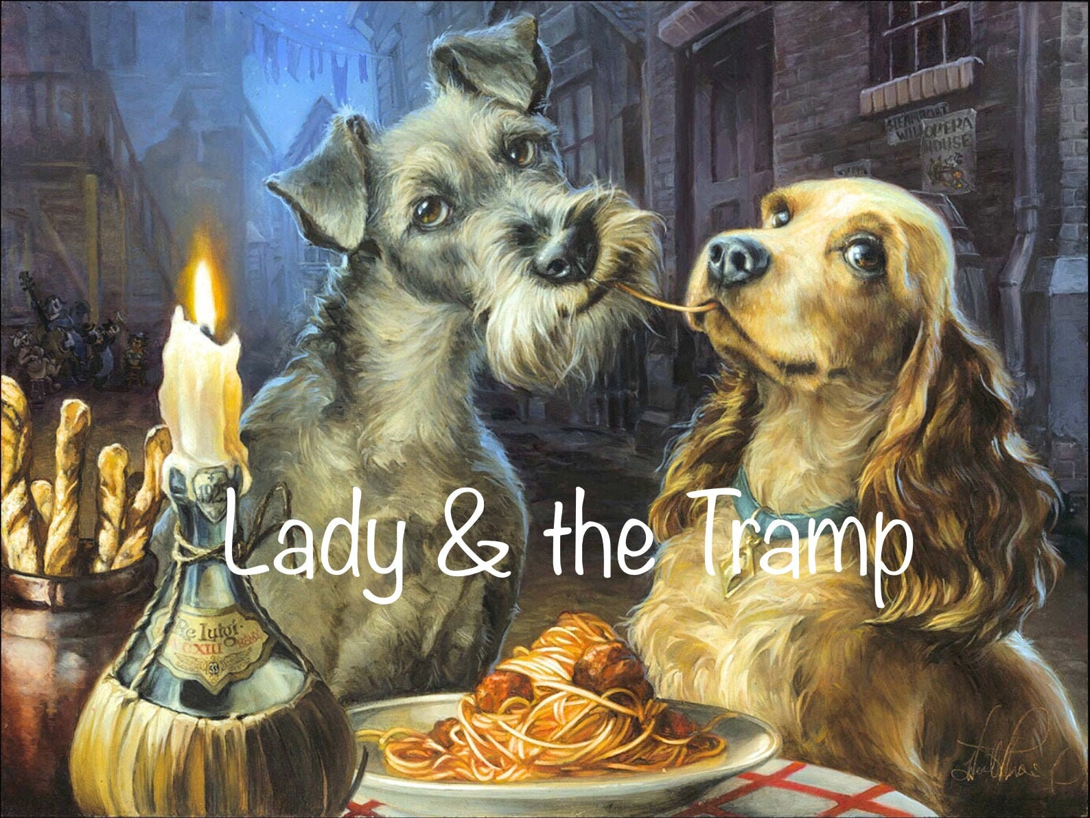 Preorder 60x80cm Lady And The Tramp Diamond Painting Etsy