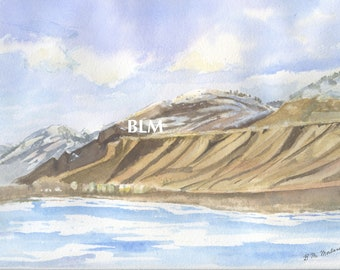 South Thompson River, Kamloops BC. Card Set, post cards and prints (#2)