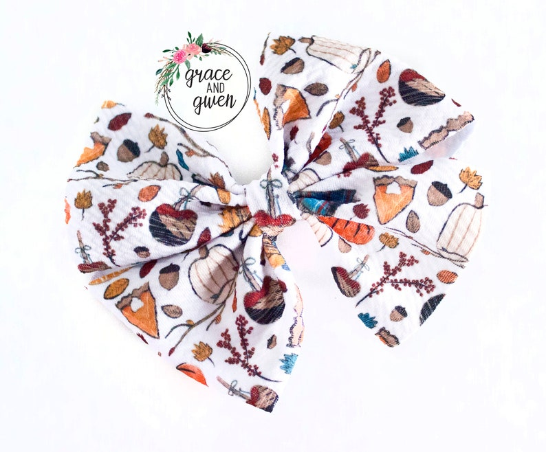 Nylon Bow Headbands and Clips Head Wrap Fabric Solid Color Fabric Bows Liverpool Bow Collection Cozy Fall Classic Bow Collection