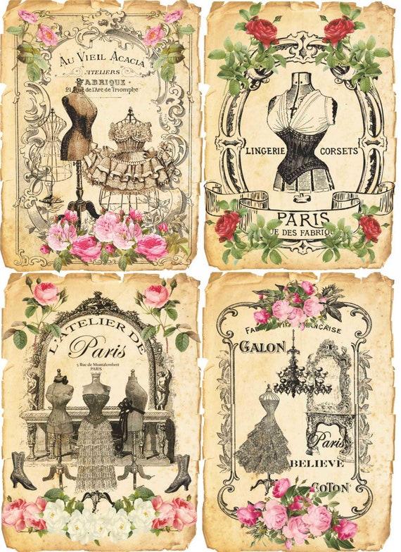 Scrapbooks-Vintage Tricot 4 x Serviettes en papier pour découpage artisanat