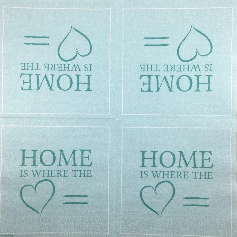 Decoupage napkins Sweet Home heart paper napkin Art paper Scrapbooking paper Art print paper DIY Craft retro Handmade napkins 13*13#15