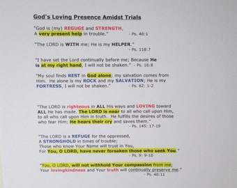 Verses of God's Presence in Trials