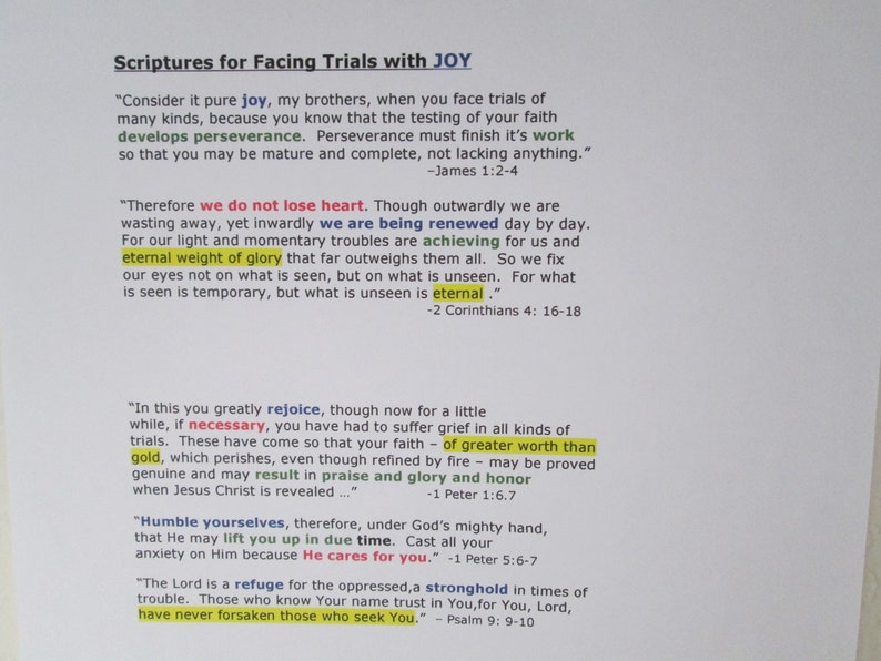 Verses for Facing Trials