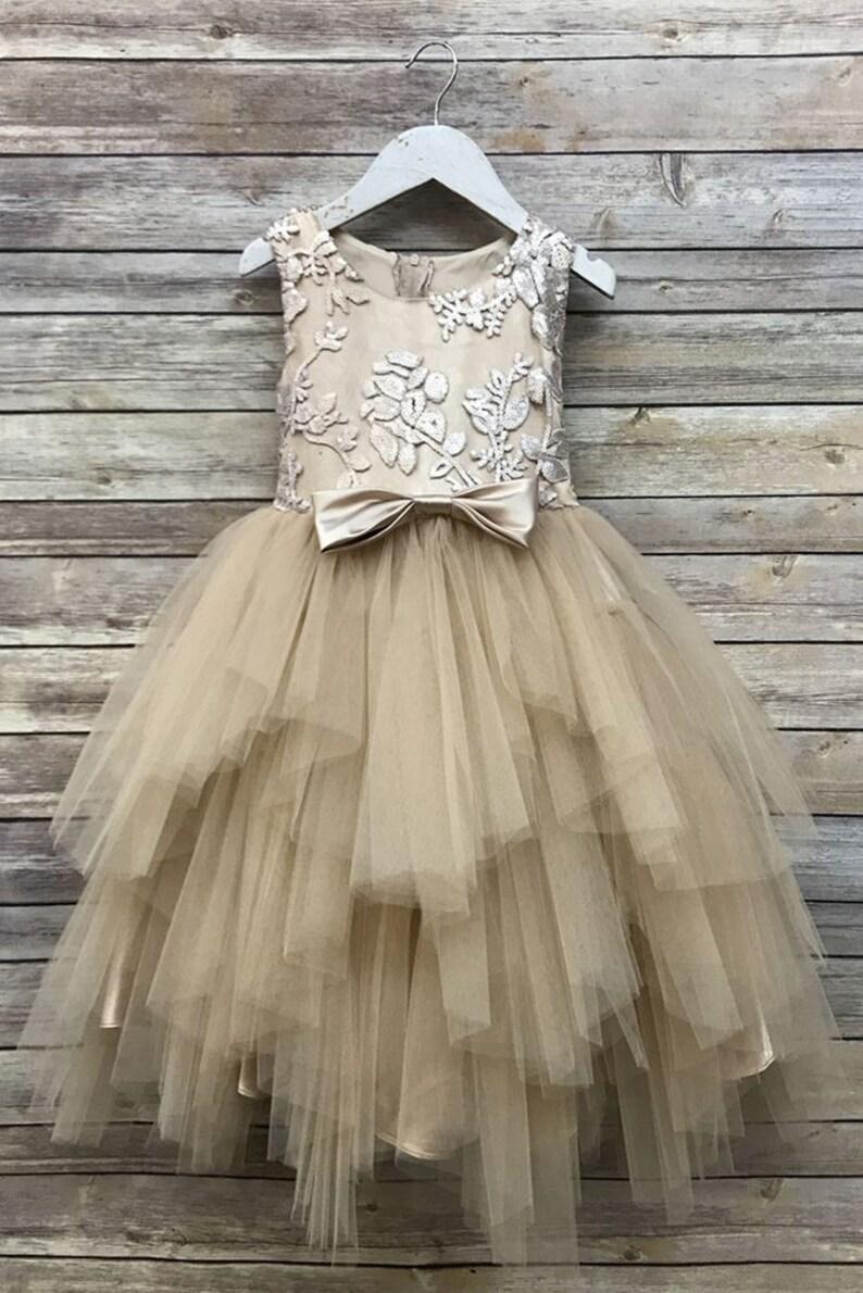 dd7172918e6fe Flower Girl Dress,Champagne sequin Dress,FREE SHIPPING, Champagne Dress,  Sequin Dress, Flower Girl, Wedding Flower Girl Dress,Champagne
