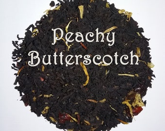 Peachy Butterscotch Black Tea Loose Leaf Ceylon Dessert Hot or Iced Cold Brew