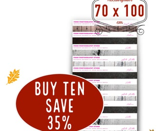 BUY TEN SAVE 35% for sizes of 70 cm / 28 inches on short side