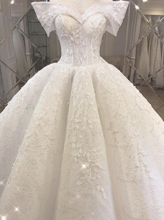 Fairy tale wedding dress paolo sebastian Inspired | Etsy
