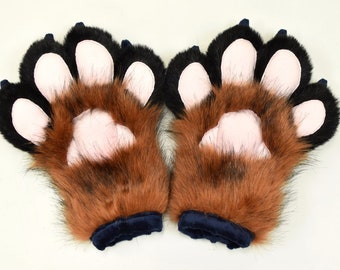 Puffy fingers hand paws